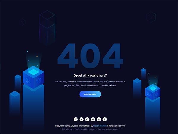 Cryptico - ICO & Cryptocurrency WordPress Theme